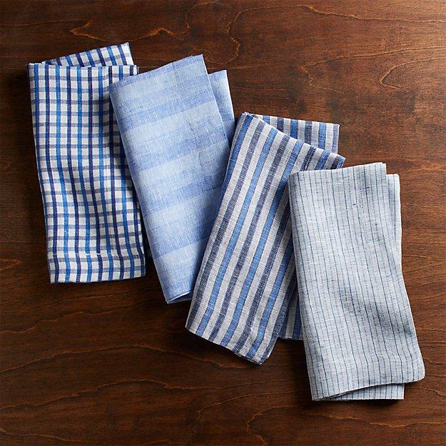 Blue Suits Dinner Napkins, Set of 4 - Image 1 of 2