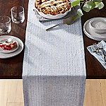 Suits Blue Stripe 90  Linen Table Runner