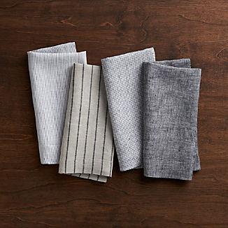 Suits Linen Cloth Dinner Napkins, Set of 4