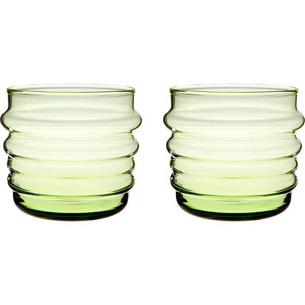 Set of 2 Marimekko Sukat Makkaralla Green Glasses