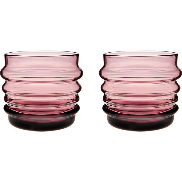 Set of 2 Marimekko Sukat Makkaralla Lilac Glasses