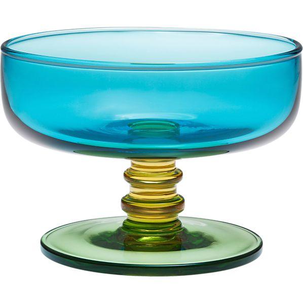 Marimekko Sukat Makkaralla Turquoise Footed Bowl