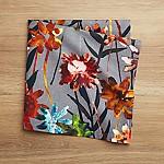 Suki Grey Floral Print Napkin