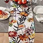 Suki Natural Floral Print Table Runner 120