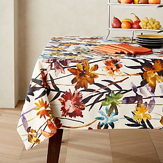 Ordinaire Suki Natural Floral Print Tablecloth