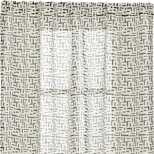 Sumba Indigo Sheer 48x84 Curtain Panel