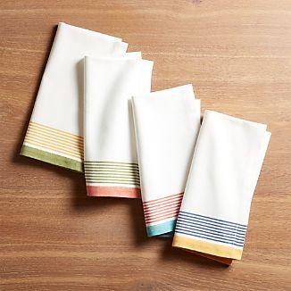 Set of 4 Summer Stripe Dinner Napkins