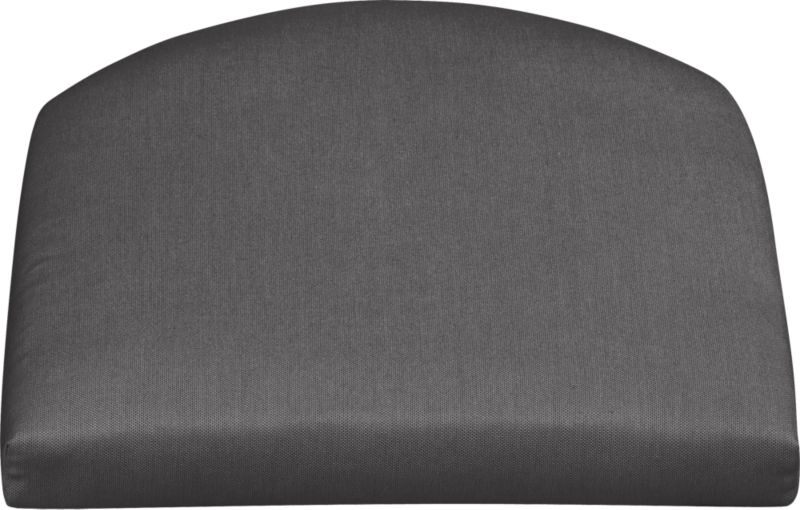 Arm chair cushion is fade- and mildew-resistant Sunbrella acrylic in charcoal.<br /><br /><NEWTAG/><ul><li>100% solution-dyed acrylic with poly wrapped foam fill</li><li>Spot clean</li><li>Made in USA</li></ul>