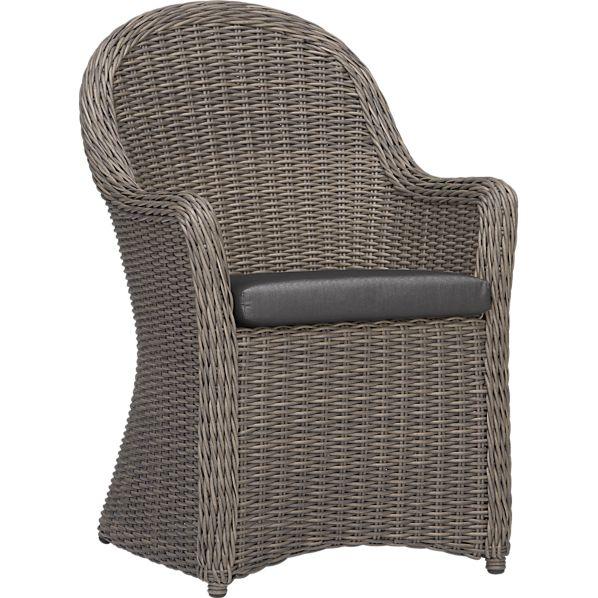 Summerlin Arm Chair with Sunbrella ® Charcoal Cushion