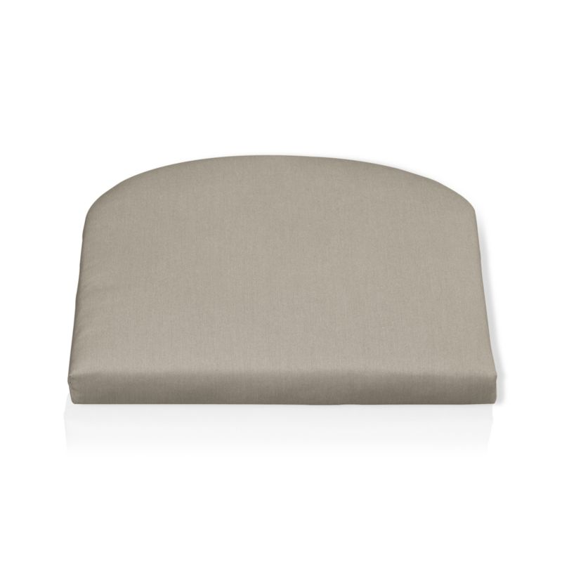 Rocking chair cushion is fade- and mildew-resistant Sunbrella® acrylic in neutral stone.<br /><br />After you place your order, we will send a fabric swatch via next day air for your final approval. We will contact you to verify both your receipt and approval of the fabric swatch before finalizing your order.<br /><br /><NEWTAG/><ul><li>100% solution-dyed acrylic</li><li>Poly wrapped foam fill</li><li>Spot clean</li></ul><br />