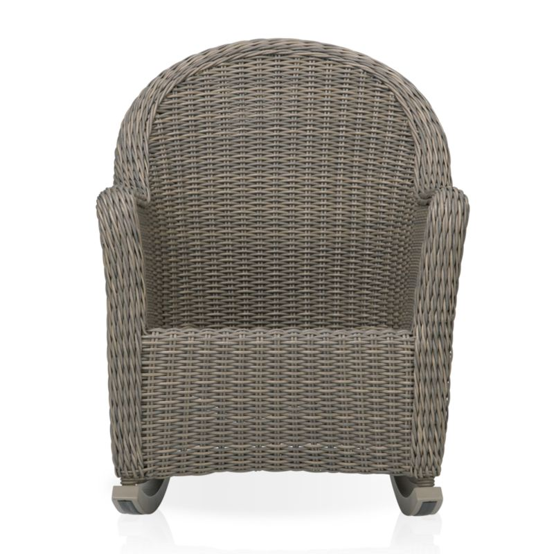 Romantic curves in handwoven 100% recyclable resin wicker bring back the nostalgia of garden hospitality. Hand-loomed around weather-resistant powdercoated aluminum frames, Summerlin's tonal weathered-grey weave captures the true nature and patina of real cottage wicker, only better with UV- and weather-resistant properties. Optional cushion is fade- and mildew-resistant Sunbrella® acrylic.<br /><br /><NEWTAG/><ul><li>Handcrafted</li><li>UV- and weather-resistant resin wicker</li><li>Aluminum frame with powdercoat finish</li><li>Made in Indonesia</li></ul>