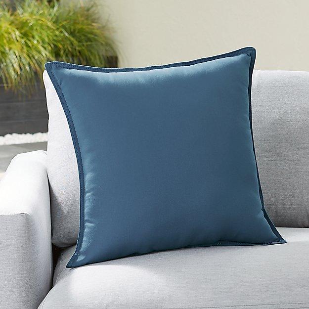 "Sunbrella ® Sapphire 20"" Sq. Outdoor Pillow - Image 1 of 3"