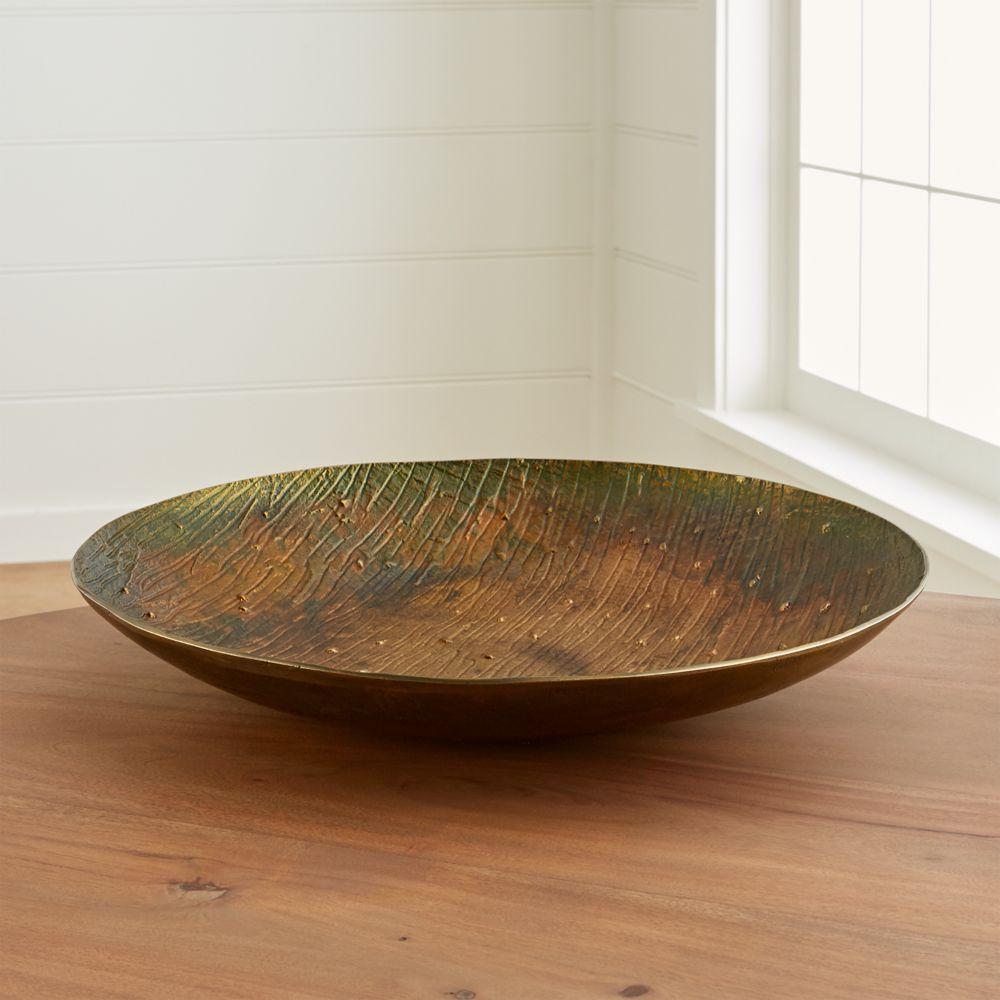 Sunset Patina Bronze Centerpiece Bowl - Crate and Barrel