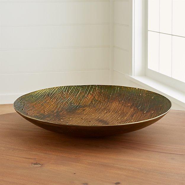 Sunset Patina Bronze Centerpiece Bowl