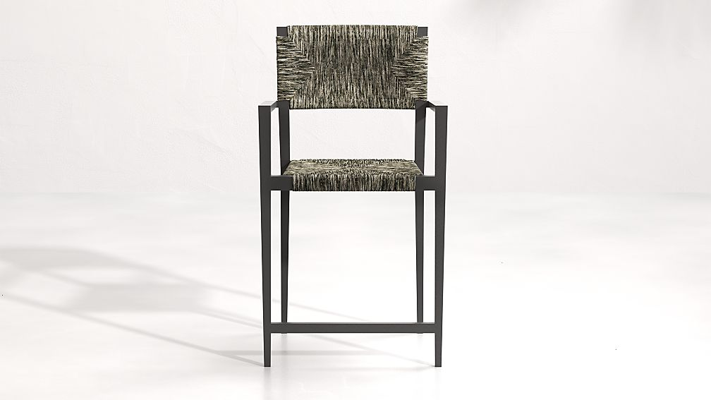 Suri All-Weather Woven Wicker Counter Stool - Image 1 of 5