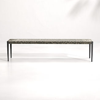Suri All-Weather Woven Wicker Dining Bench