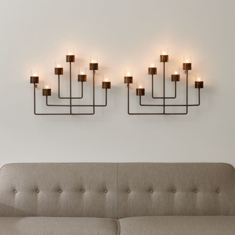 Wall Light Candle Shades : Set of 2 Surita Wall Tea Light Candle Holders Crate and Barrel