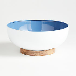 Sutton Wood and Enamel Bowl