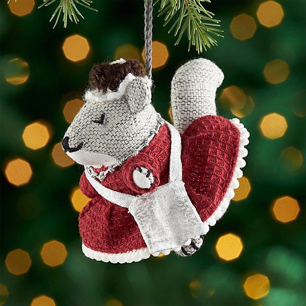 Suzette the Squirrel Ornament
