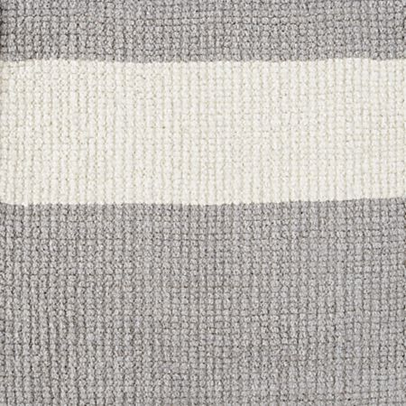 Barcode Grey Striped Rug Swatch Crate