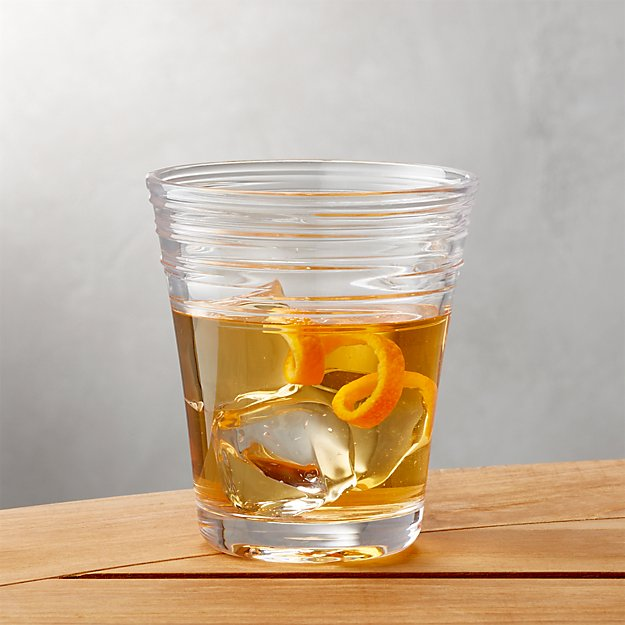 Swirl Acrylic Double Old-Fashioned Glass - Image 1 of 8