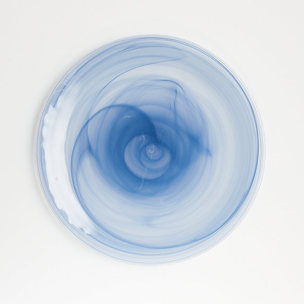 Swirl Blue Glass Charger - Image 1 of 4