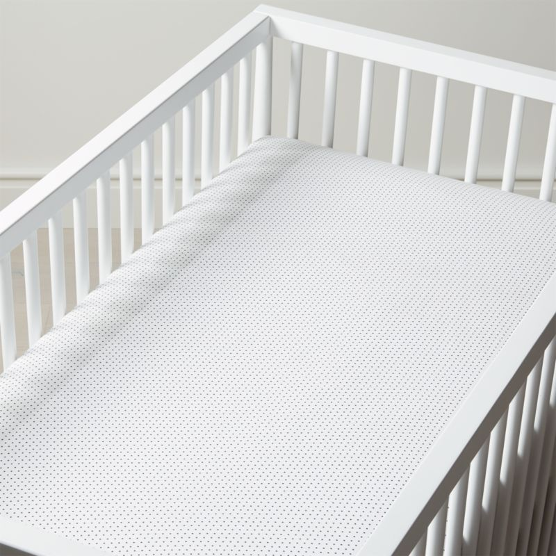 Organic Swiss Dot Crib Fitted Sheet Crate And Barrel