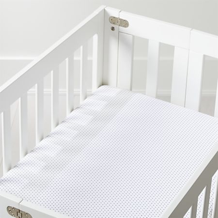 Swiss Dot Mini Crib Ed Sheet