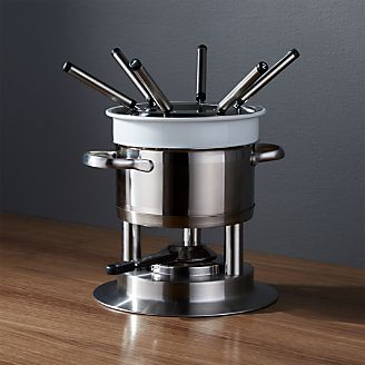 Swissmar Arosa 11-Piece Stainless Steel Fondue Set