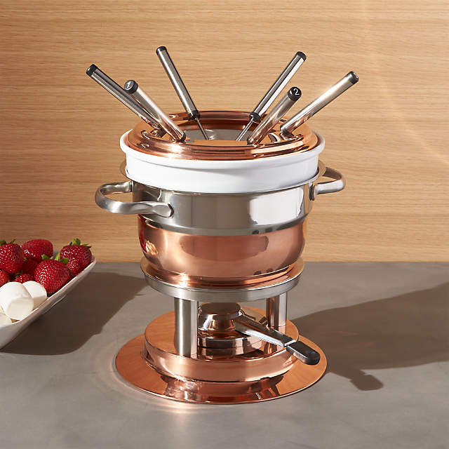 Swissmar Lausanne 11 Piece Copper Fondue Set Reviews Crate And Barrel Canada