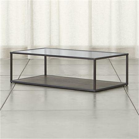 Glass Coffee Table With Shelf 2