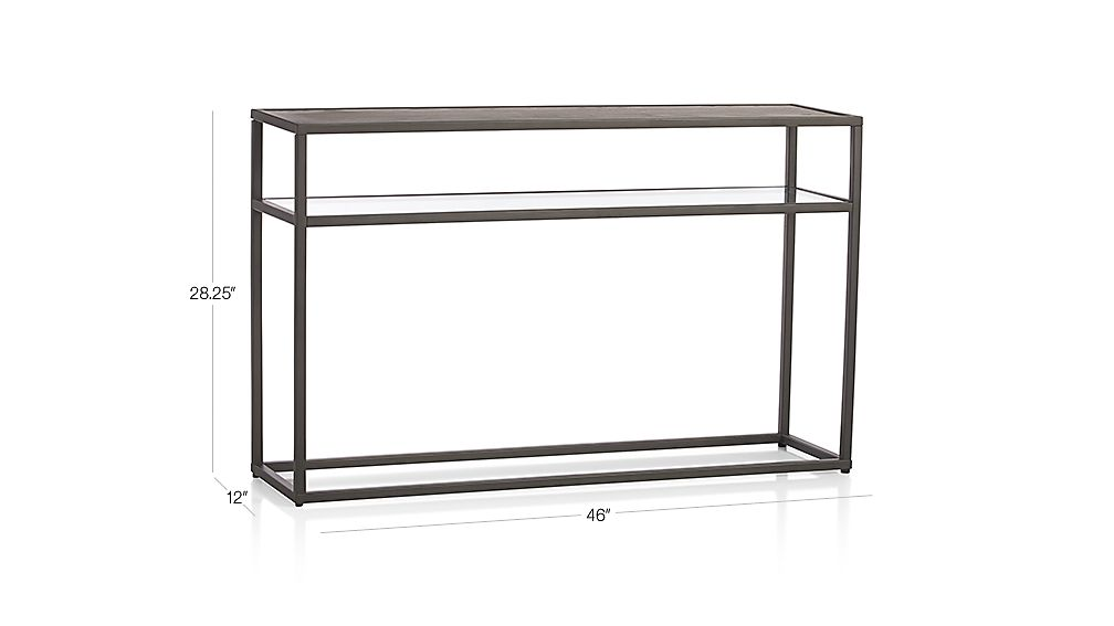 switch console table with shelf + reviews | crate and barrel