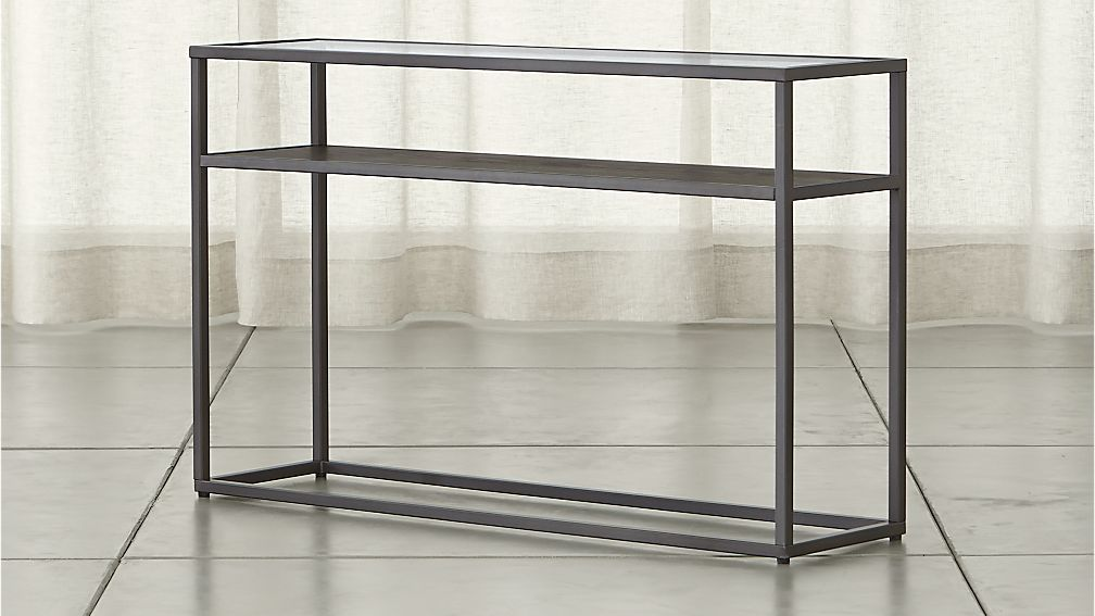 Switch Console Table With Shelf Reviews Crate And Barrel