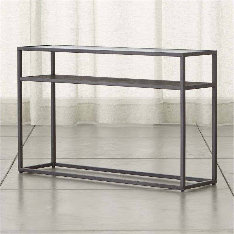 Switch Console Table with Shelf Crate and Barrel