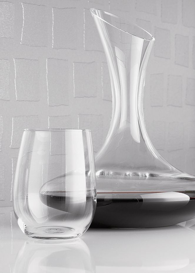 Swoon Carafe and Stemless Wine Glass