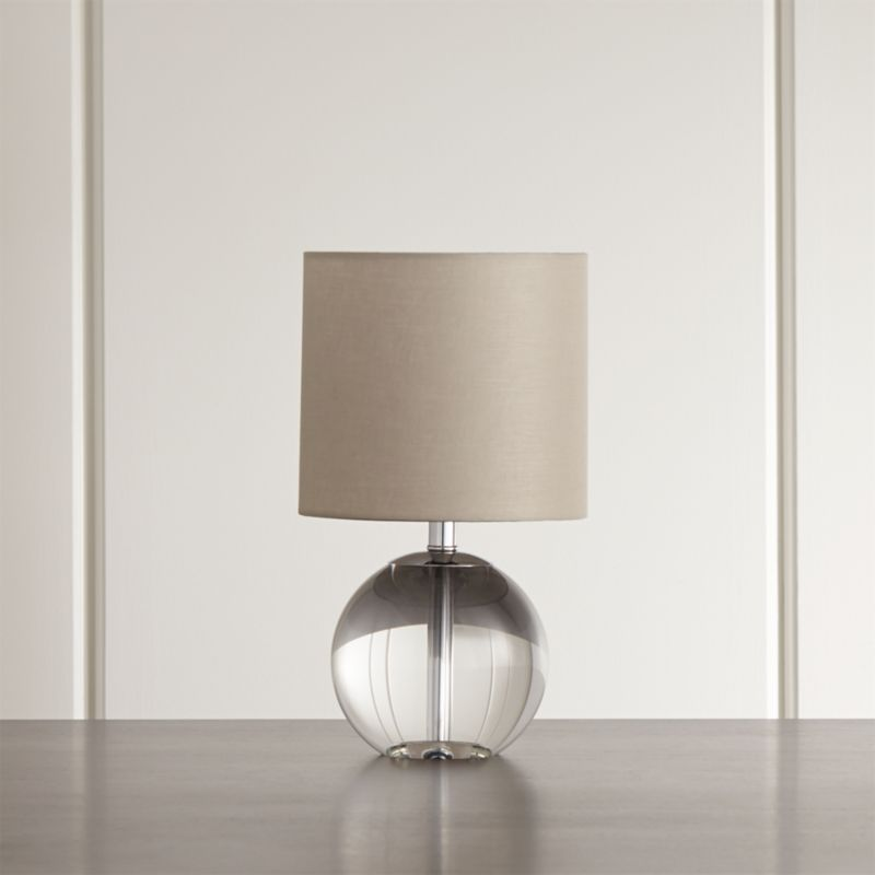 Sybil Globe Crystal Table Lamp Reviews Crate And Barrel