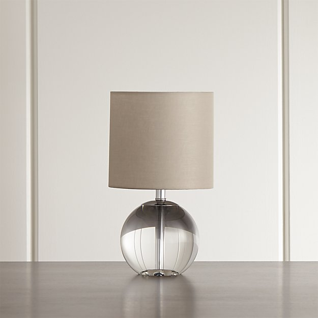 Sybil Globe Crystal Table Lamp Crate And Barrel