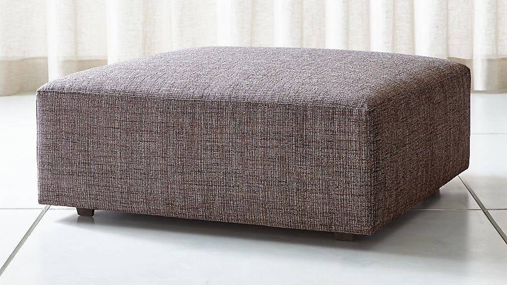 "Syd 38"" Square Cocktail Ottoman - Image 1 of 3"