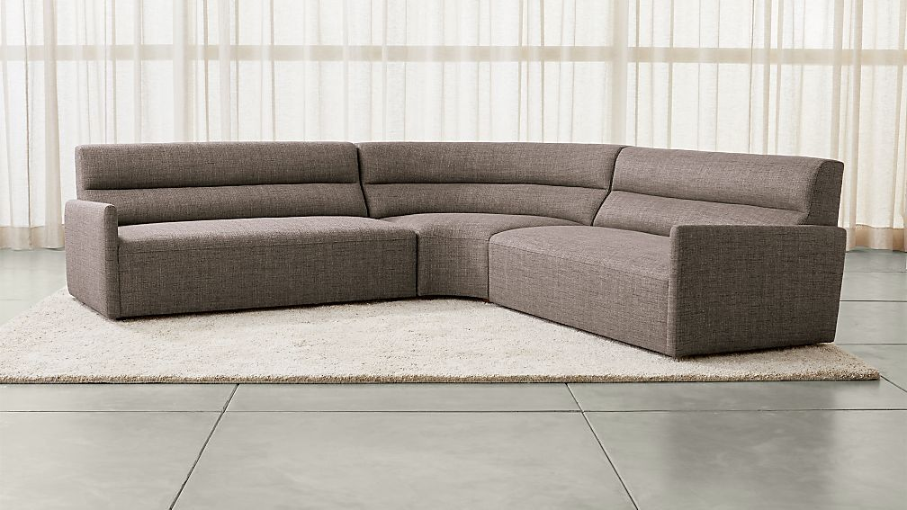 3 Piece Curved Sectional Sofa Home Decor