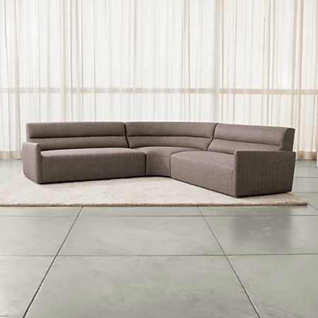 Sydney 3 Piece Curved Sectional Sofa