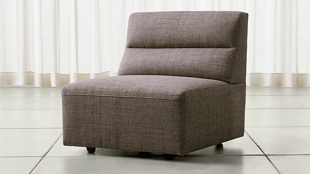 Sydney armless chair crate and barrel for Crate and barrel armless chair