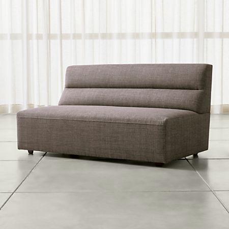 Remarkable Sydney Armless Loveseat Short Links Chair Design For Home Short Linksinfo