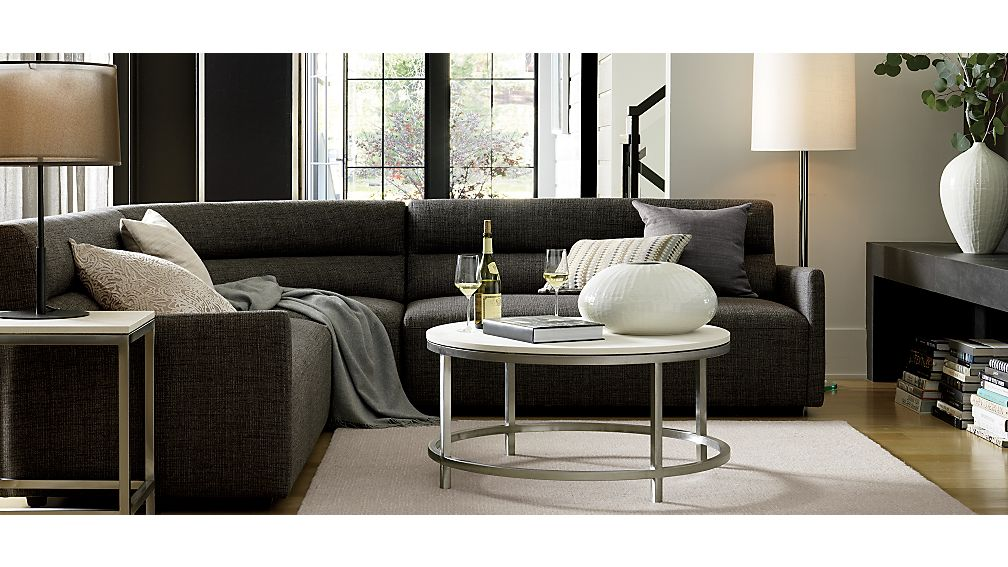 Era Limestone Round Coffee Table Crate And Barrel