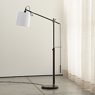 Task floor lamps crate and barrel sylvester adjustable floor lamp mozeypictures Images