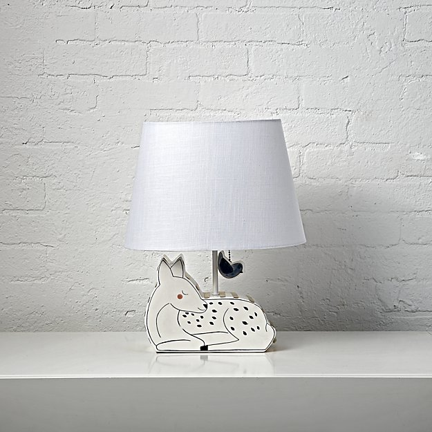 Woodland deer table lamp reviews crate and barrel