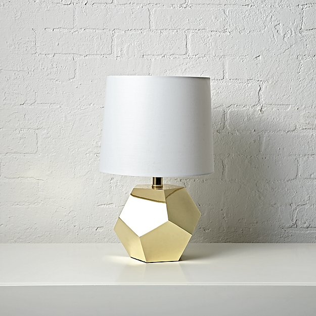 Geometric Gold Lamp - Image 1 of 10