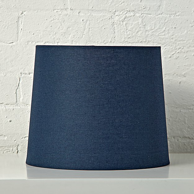 Mix and match dark blue table lamp shade reviews crate and barrel tablelampmixmatchshadedarkblue aloadofball Choice Image