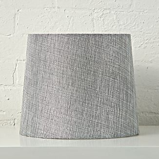 Cotton lamp shades crate and barrel mix and match silver table lamp shade aloadofball Gallery