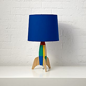Kids table bedside lamps crate and barrel rocket table lamp mozeypictures Image collections