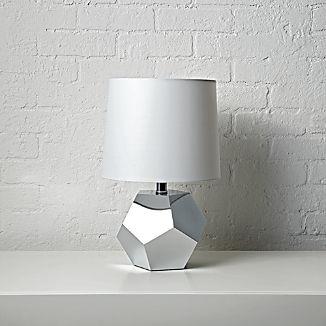 Geometric Silver Lamp